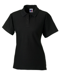 THURSO HIGH SCHOOL BLACK LADIES FITTED POLO SHIRT WITH LOGO